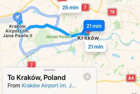Train from Krakow Airport