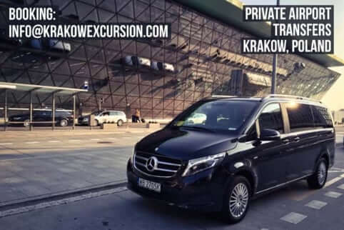 Private Airport Transfer in Krakow with vehicle from Krakowexcursion.com fleet