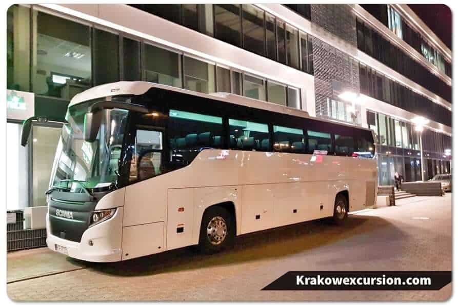 Coach hire Krakow Airport transfer Krakow excursion