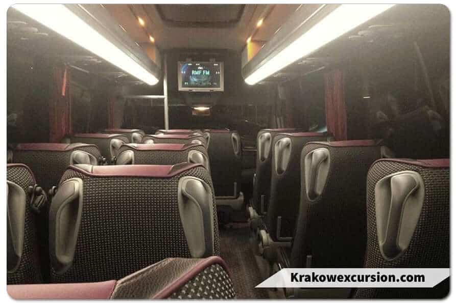 Mercedes-Benz Sprinter interior minibus Krakow excursion