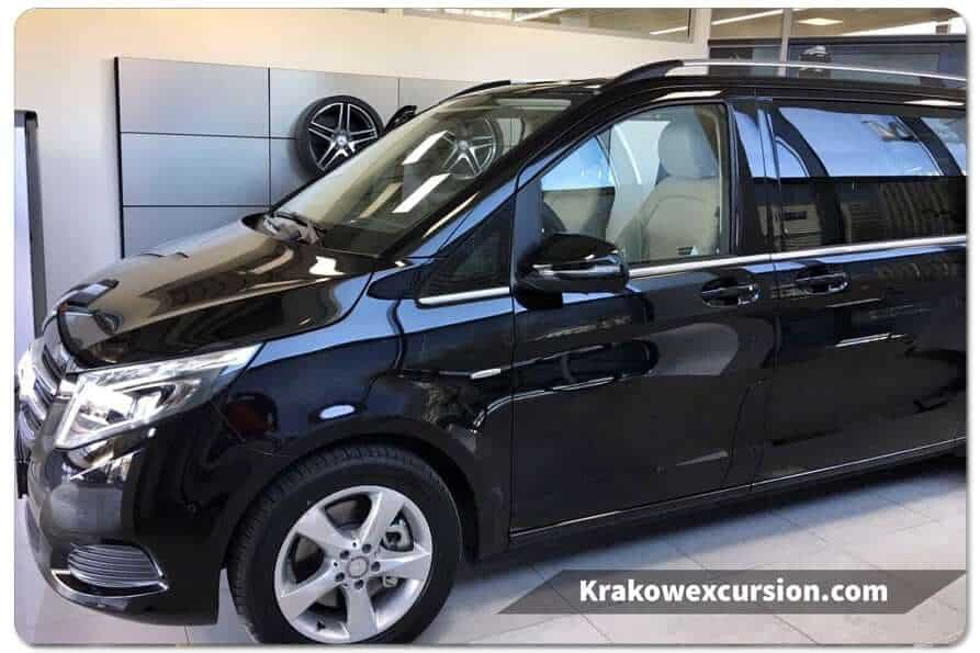 V-class minivan Krakow excursion Krakow airport transfer