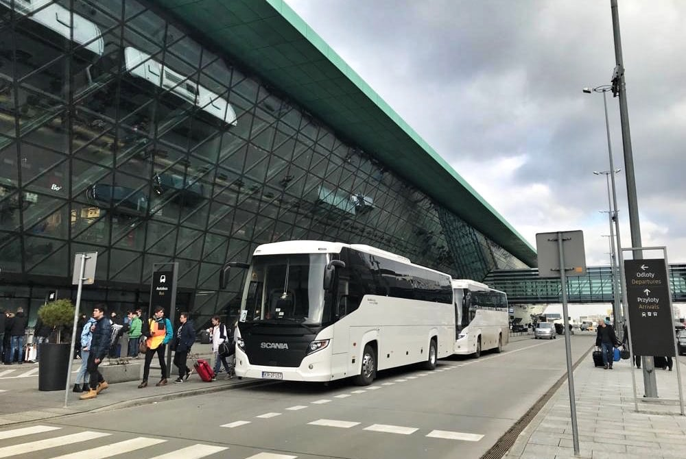 Krakow Airport Transfer to organized groups with our 50-seater coaches Krakowexcursion.com